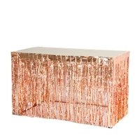 1pc 29108 inch rose gold tinsel table skirt metallic foil fringe table curtain tassel garlands wedding birthday shower decor