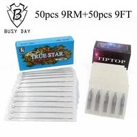 9rm9ft 50pcs true star tattoo needles 50pcs tip top tattoo tips for free shipping
