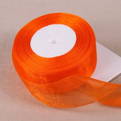 50 jardas/lote 38mm orange red organza fitas atacado/decoração do casamento/aniversários presente fitas de embrulho livre grátis