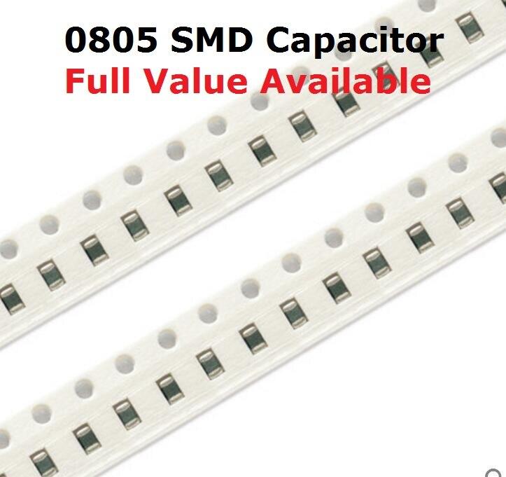 200 Uds 0805, 106, 225, 226, 336, 476, 475 K/M/Z SMD condensador de cerámica 50V 2,2 UF 16V 4,7 UF 10UF 22UF 33UF 47UF kit de chip de capacitancia