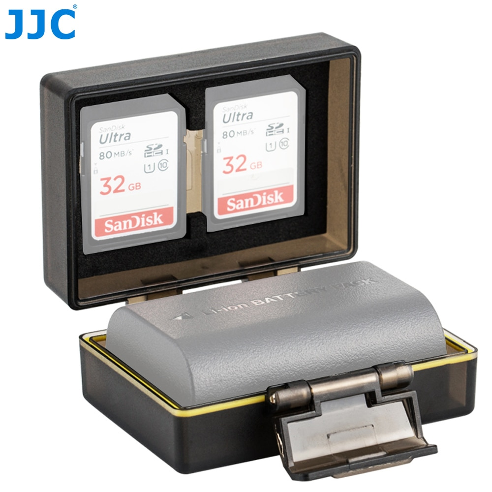 JJC камера держатель батареи сумка для Canon LP-E6 LP-E6N LP-E17 Sony NP-FW50 Fujifilm NP-W126 чехол SD MSD TF карта коробка для хранения