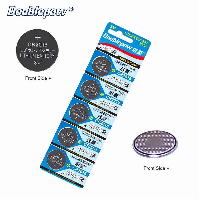 Qualidade 5 pcs/2 Cartões Doublepow DP-CR 2016 3 V Botão Bateria de Célula tipo Moeda De Lítio CR2016, CL2016, ECR2016, GPCR2016, o OEM é aceitável