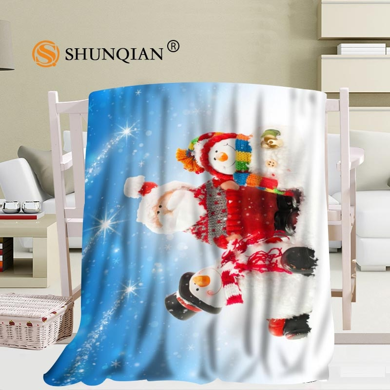 جديد وصول مخصص عيد الميلاد ثلج بطانية أريكة بطانية جديدة المحمولة بطانية ناعمة السرير طائرة السفر بطانية المنزل الكبار