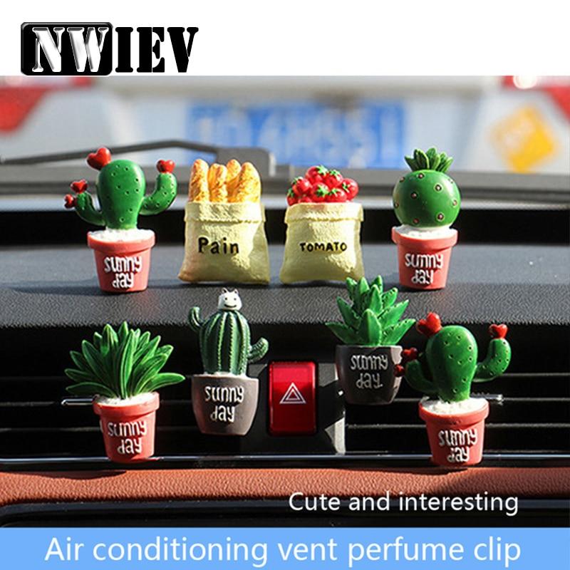 NWIEV de resina de Clip de Perfume para ventilación de aire acondicionado de coche para Kia Rio K2 Ceed Sportage Hyundai Solaris tufson I30 IX2 Accesorios