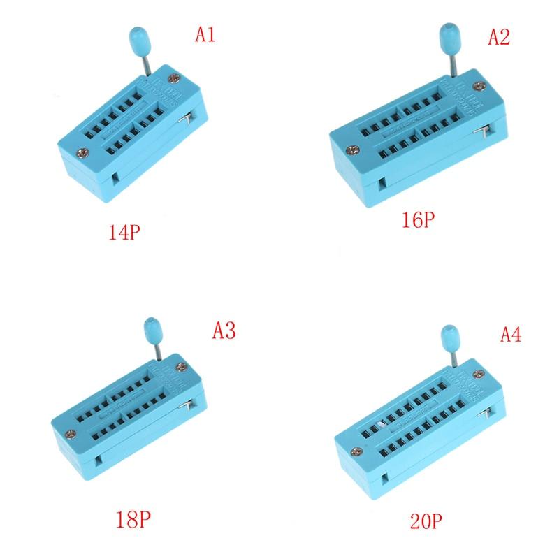 1pc venda quente 14/16/18/20/24/28/32/40 pino ic teste universal zif soquete universal ic teste universal zif soquete