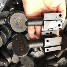 CHKJ 2 PCS/LOT noir clé copie Machine en plastique matériau outils de serrage poignée pour clé Machine de découpe serrurier fournitures