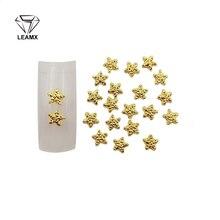 50 PCS/bag Golden Bump Five-pointed Star Type 5 * 5 mm 3D Nail Art Decorations Pretty Pretty Girl Charm DIY Nail Stickers