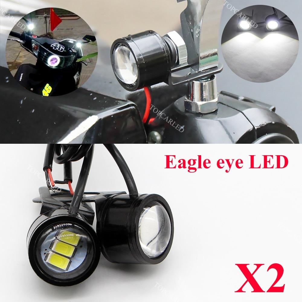 2pcs Eagle Eye LED 22mm Hawk Eye DRL Daytime Running Lights Reverse Backup Signal Light Bulbs Fog Lamp for Motorcycle Auto Car