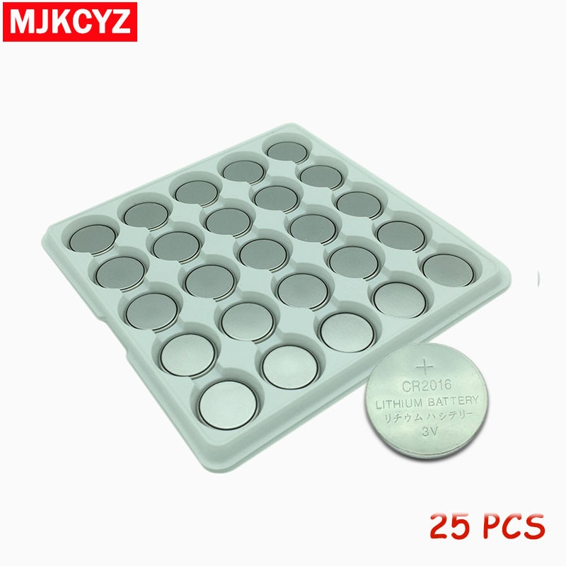 25 unids/lote CR2016 batería de litio de 3V DL2016 ECR2016 LM2016 BR2016 CR 2016 botón moneda baterías envío gratis