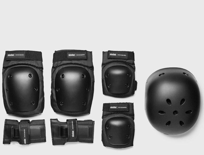 Ninebot segway-مجموعة حماية أصلية ، خوذة ، دراجة أحادية كهربائية ، وسادات الكوع ، الركبة