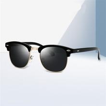 ASOOP2019 New Fashion Female Sunglasses Classic Brand Design Semi-frame Round Men's Sunglasses UV400 Retro Leopard-print Glasses