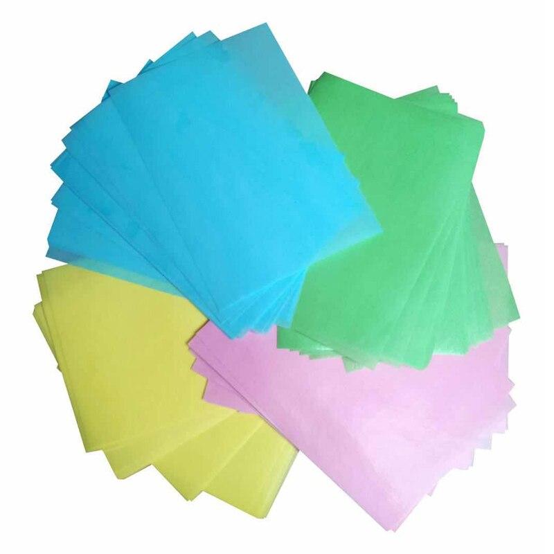 A4 Farbige Essbaren Wafer Papier gemischt für Tasse Kuchen Dekoration, Gelb Blau, Grün, Rosa, kuchen Druck Blatt kuchen dekorieren werkzeuge
