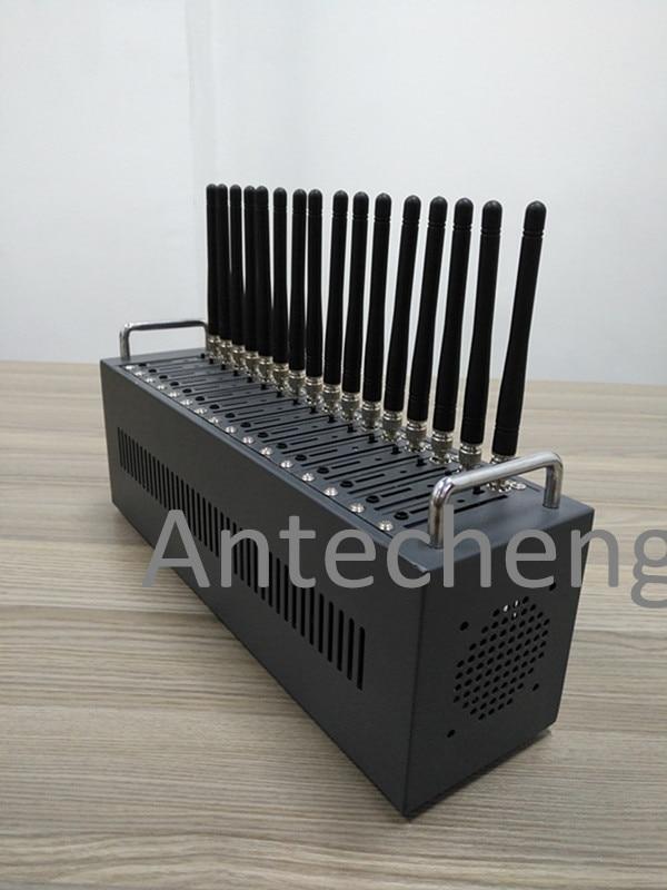 Multi tarjeta sim módem piscina 16 port modem GSM Wavecom