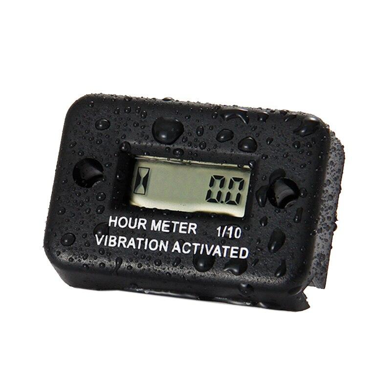 ¡Envío gratis! medidor de horas vibratorio resistente al agua RL-HM016100 % nuevo/medidor de horas de uso de motor Diesel de Gas y motocicleta eléctrica