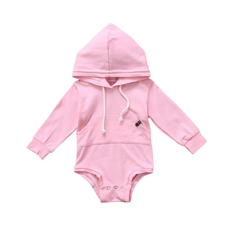 Venta caliente verano otoño bebé niñas sudaderas con capucha manga completa sólido sudaderas Tops Toddles infantil ropa de bebé Casual