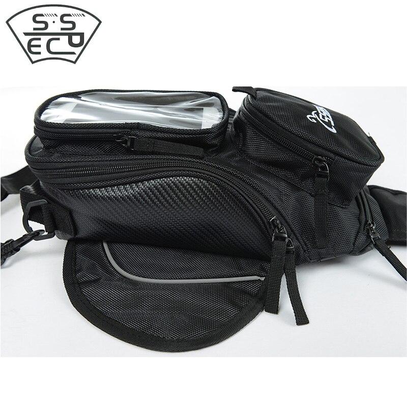 SSPEC nuevos para Motor tanque Negro Bolsa bolsa de tanque de combustible de aceite magnético bolsa de sillín de moto un solo hombro bolso de mochila