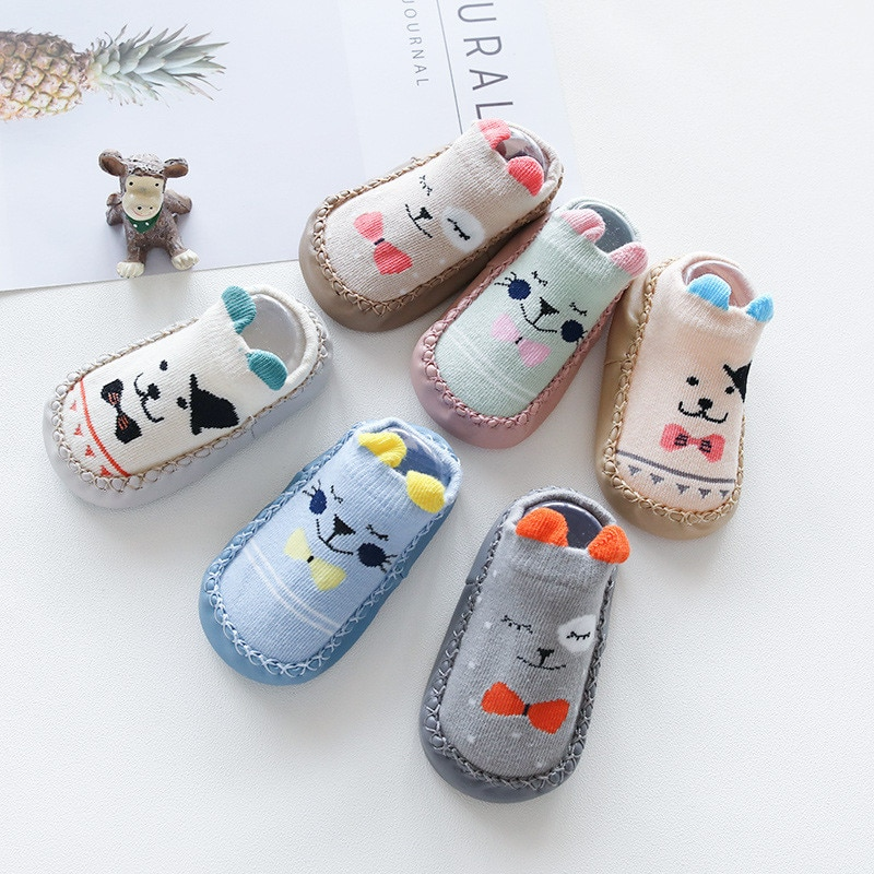 2020 New born Baby Socks With Rubber Soles Infant Baby Girls Boys Shoes Spring Autumn Baby Floor Soc