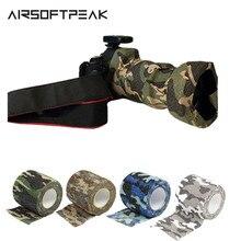 Extérieur 4.5*5cm chasse bande militaire Camouflage bandes imperméable Camouflage enveloppement tir pistolet Paintball Stretch pansement chasse outils