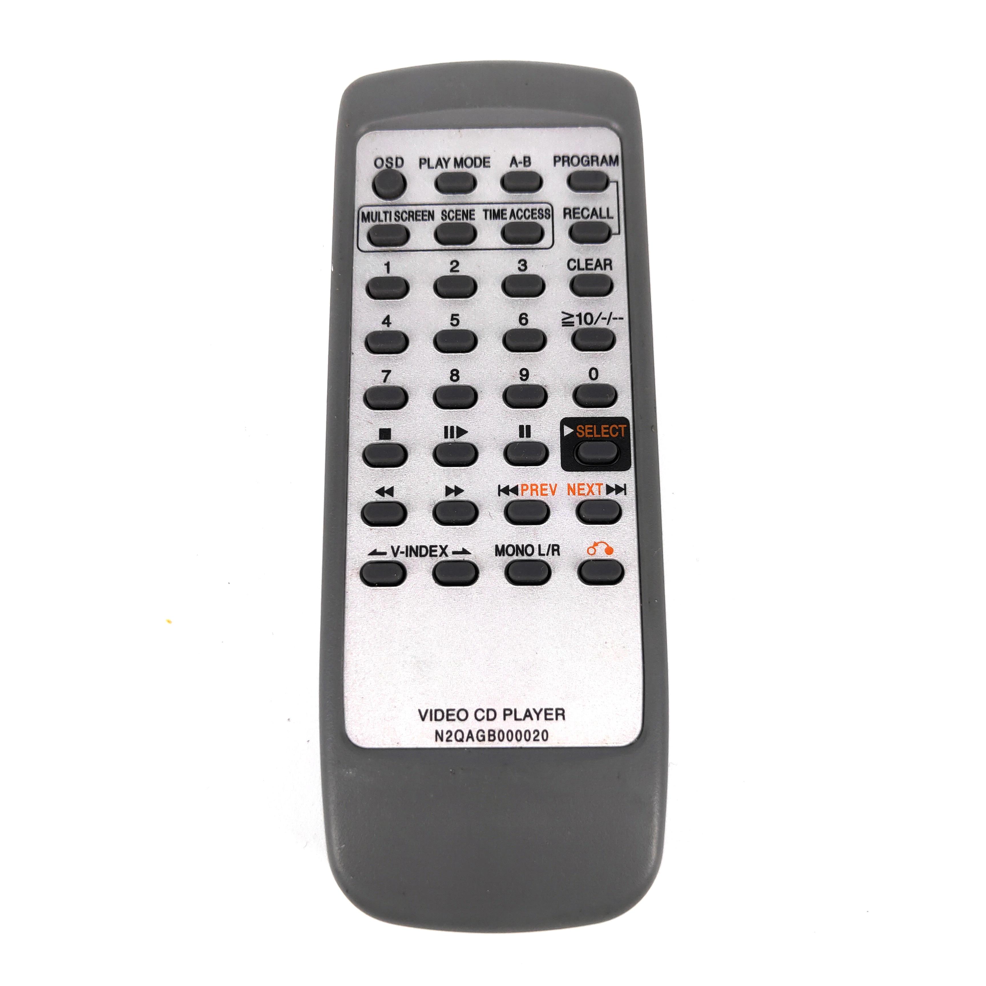 Nuevo Original para Panasonic VIDEO CD PLAYER control remoto N2QAGB000020 Fernbedienung