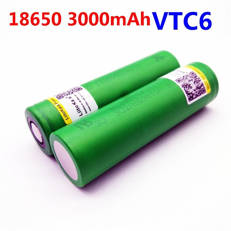 Liitokala VTC6 3.7V 3000mAh rechargeable Li-ion battery 18650  US18650VTC6 30A toys tools flashlig