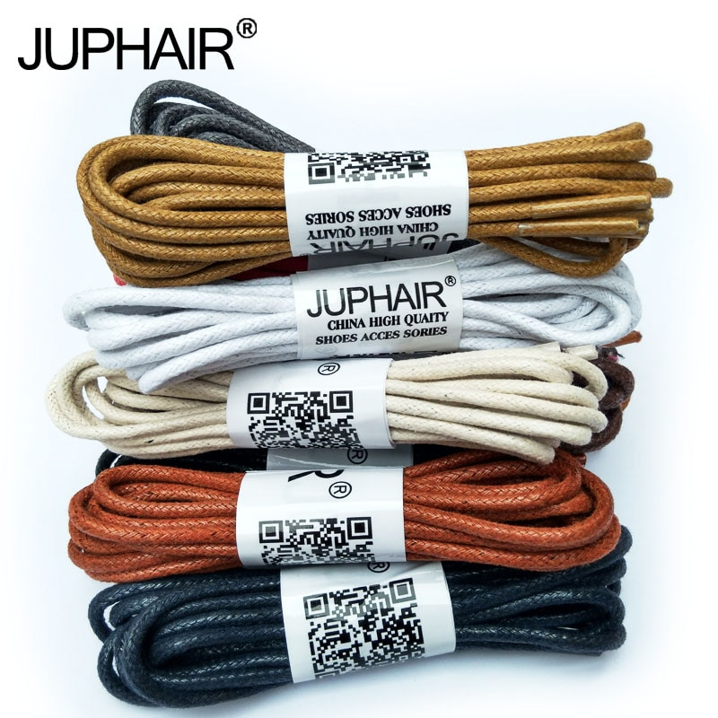 N 1-12 Pair Yellow Brown High Quality Laces Sneaker Sport Round Wax Cotton Thin ShoelaceWaxed Dres Shoes Popular Worldwide Sale