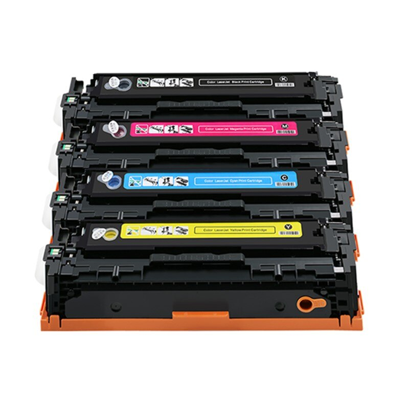 204A con Chip recargable HP CF510A CF511A CF512A CF513A cartucho de tóner para HP Color LaserJet Pro M154 MFP M180 180n M181 181fw