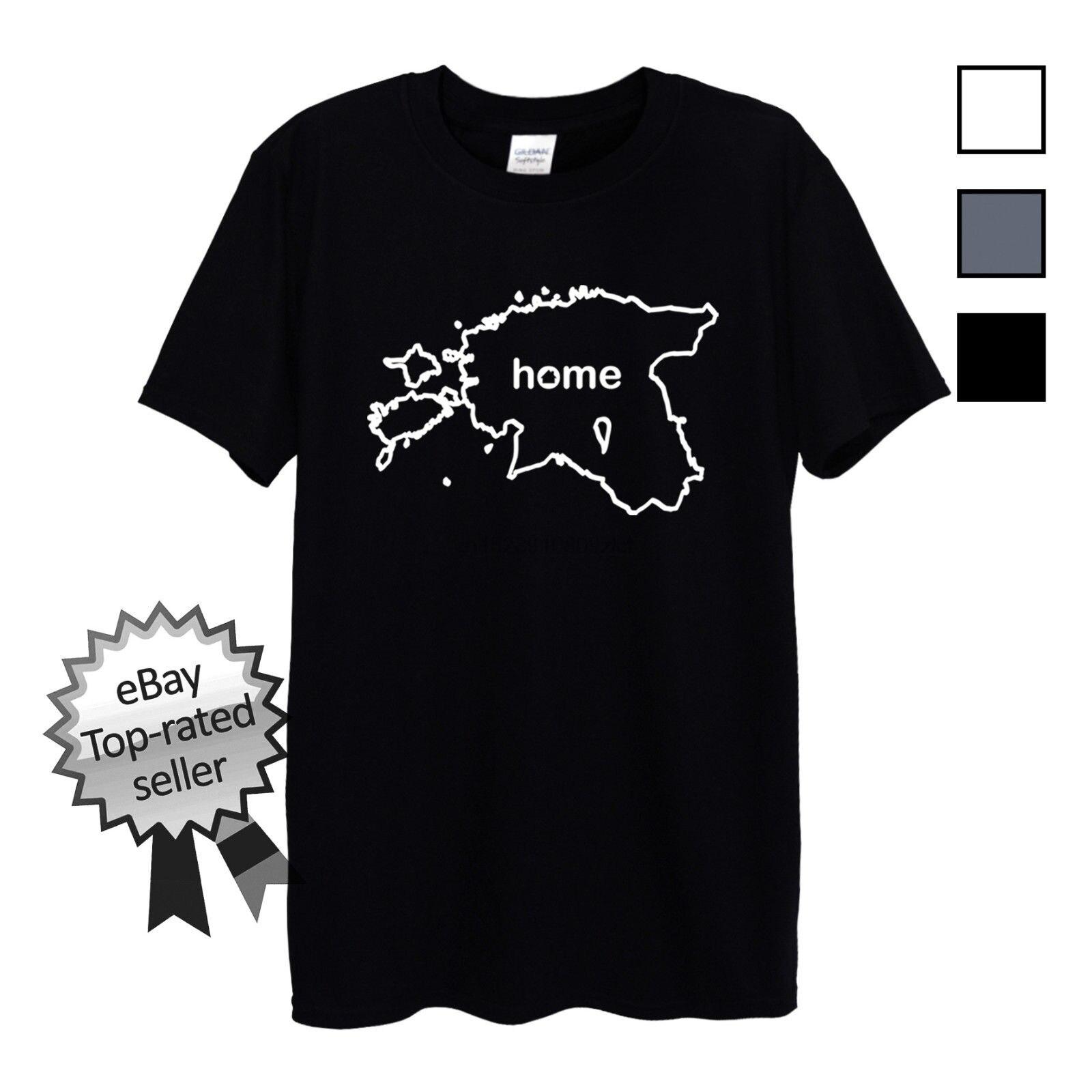 Simple Short-Sleeved Cotton T-Shirt ESTONIA HOME T-Shirt FIND YOUR OWN Country Men OR Women Tallinn Eesti Estonian O-Neck