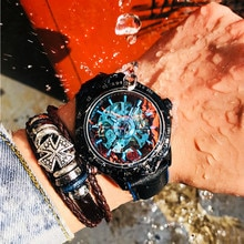 MEITUO Automatic Watch Men Sport Mechanical Watches Top Brand Luxury Wrist Watch Colorful Male Clock
