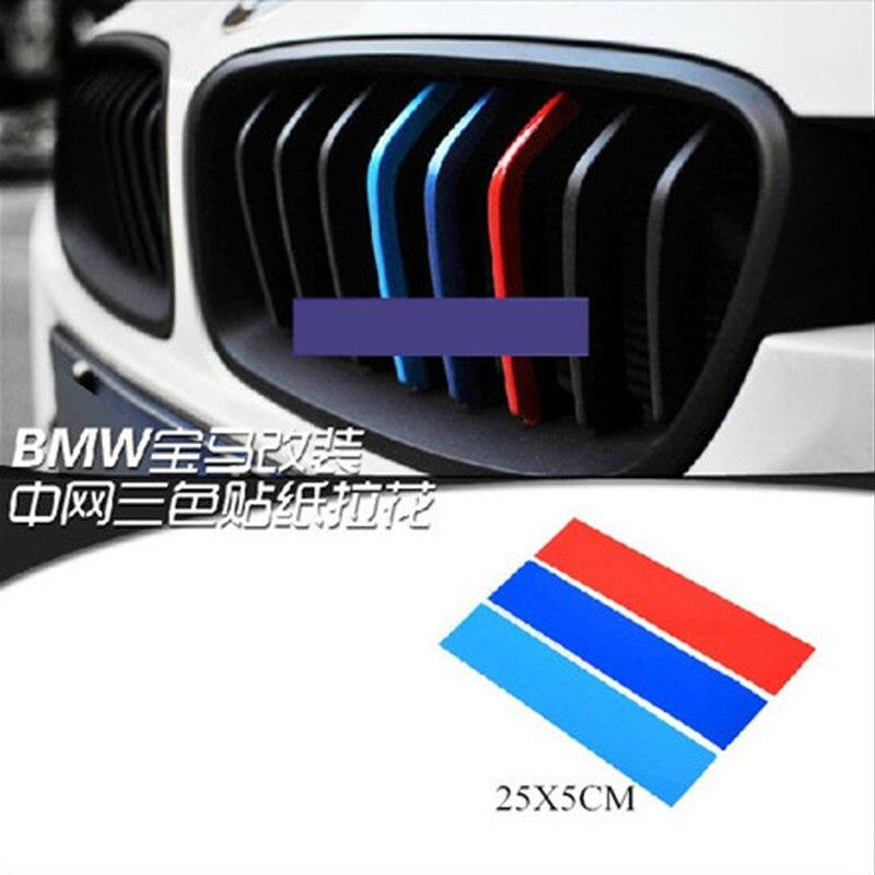 Car Styling 3 pcs Listras /// M pvc 3D Grade Dianteira Etiqueta Para Universal BMW e46 X3 X4 X5 X6 Grade Dianteira Etiqueta Para BMW