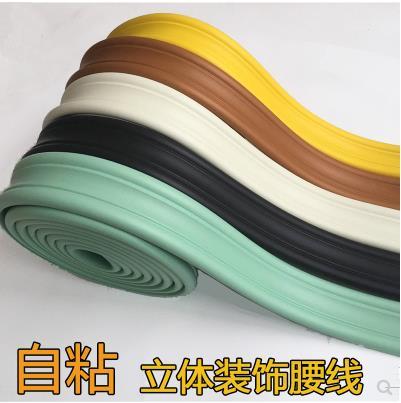 Auto-adhesivo del fondo de la tira papel frontera jardín cintura pegatinas de línea de auto-adhesivo de la línea de la cintura pegatinas de pared