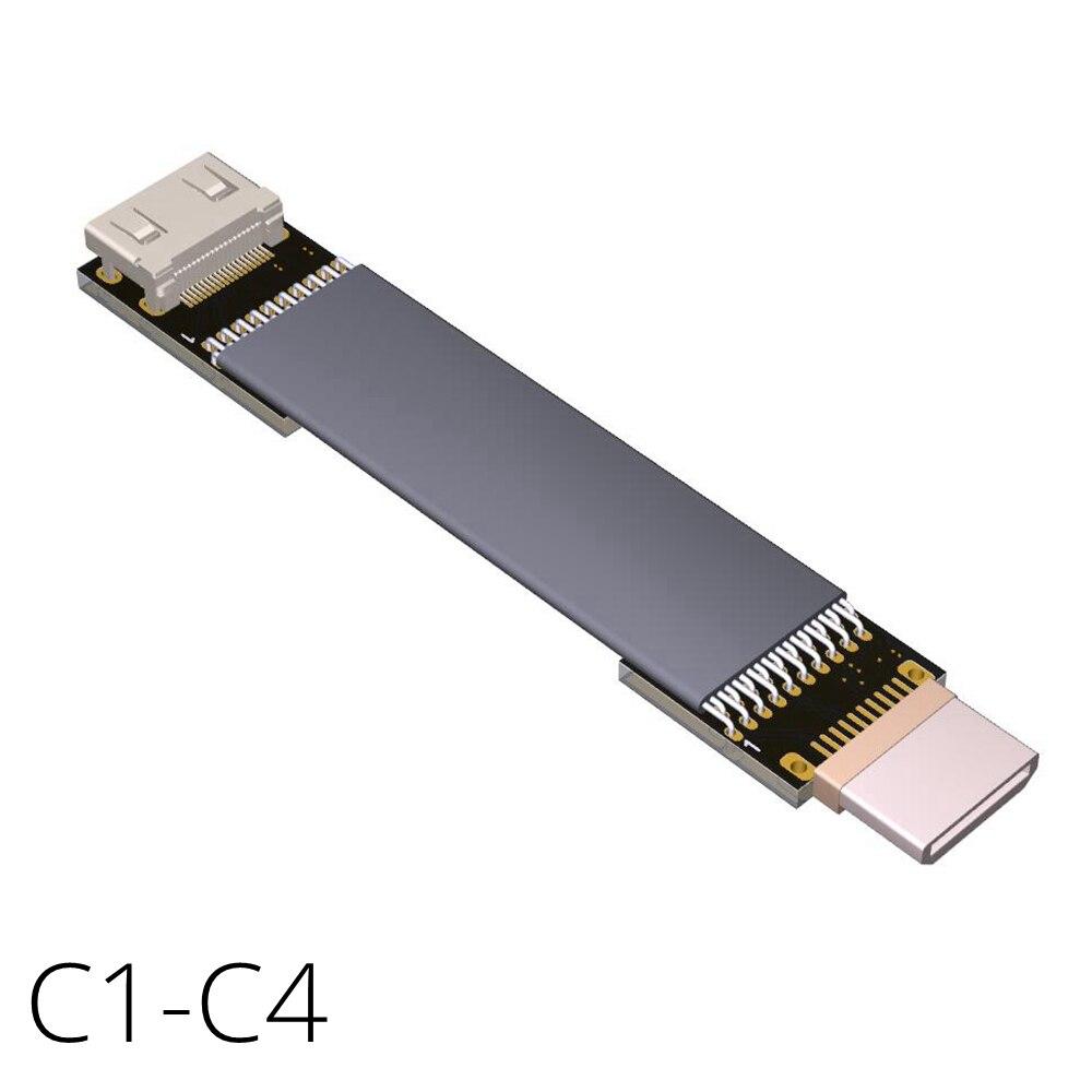Mini hdmi macho para mini hdmi fêmea tipo c/tipo c 20pin fpv cabo conversor adaptador 60hz suporte 4k-ultrahd, 3d, 1080p c1c4