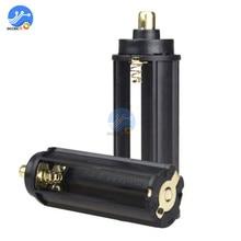 2 pièces/lot. 3 piles AAA. Boîtier de support métallique en plastique noir. Type cylindrique pour lampe de poche 18650. Lampe torche 65mm * 21mm en Stock.