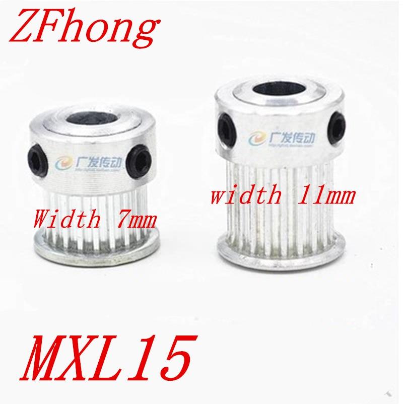 5 piezas 15 dientes MXL15 polea de distribución 2.032mm de ancho 7mm o 11mm de diámetro tamaño 4mm 5mm 6mm