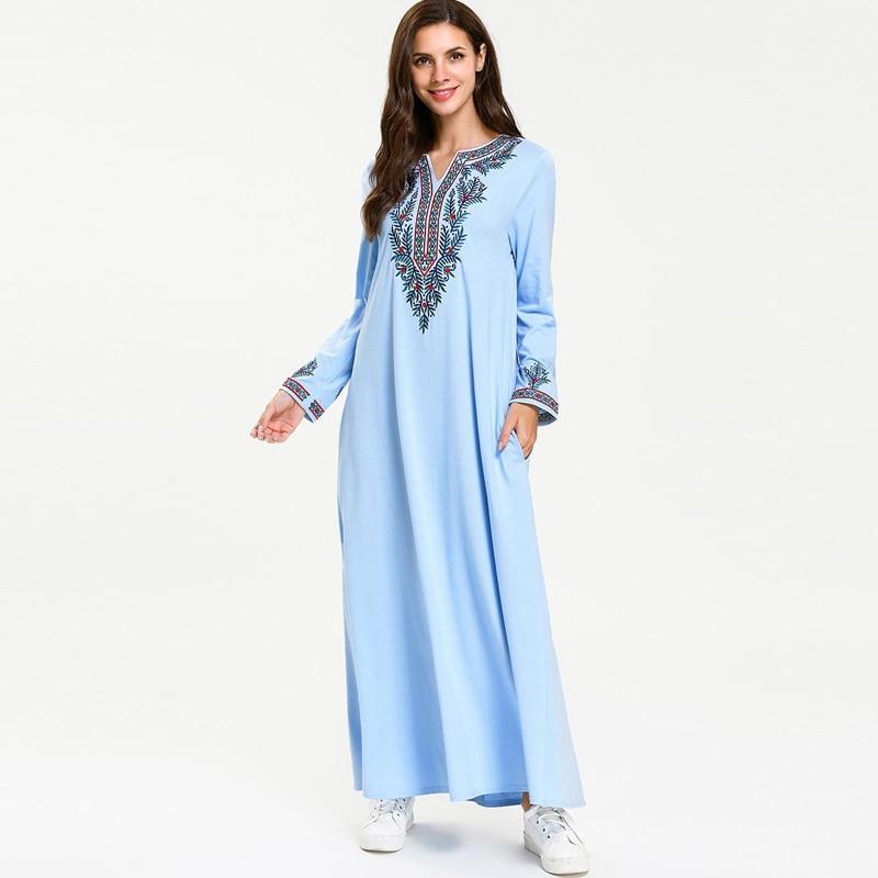 Ramadan Vestidos Compridos Abaya Kaftan Dubai Islamischen Arabisch Kaftan Maxi Hijab Muslimischen Kleid Elbise Robe Femme Frauen Eid Kleider