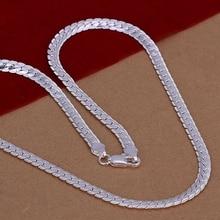 Collar chapado en plata de la joyería 925, Collar de plata colgante de 5mm collar N130/XPICXSMO WHJXVZKV