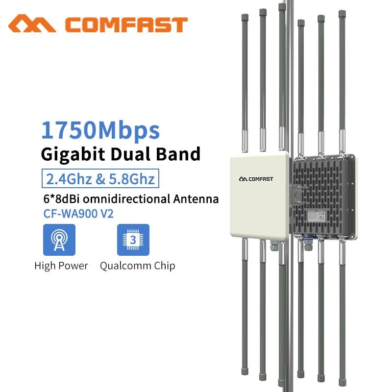 هوائي AP 6 * 8dBi مزدوج النطاق ، 1750 ميجابت في الثانية ، 5.8G ، خارجي ، تغطية WiFi ، جهاز توجيه ، نقطة وصول ، مكبر إشارة WiFi