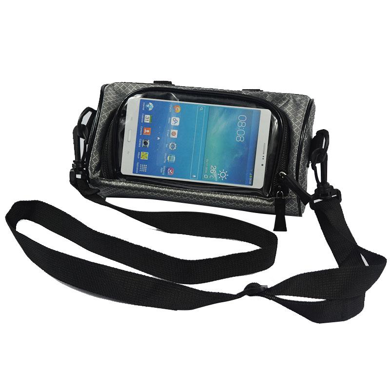 Wodoodporny Ekran Dotykowy Sakwy Rowerowe Rower Górski Rower Torby Phone Bag Case Rower Szosowy Rura Przednia Kierownica Torba Cylindra 33
