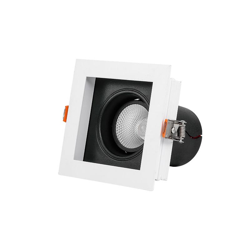SCON LED-plafonnier encastrable à tête unique avec technologie COB, éclairage mural, idéal pour un magasin de vêtements, un hôtel, 7/12W