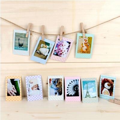 20 Pcs 9*6cm Paper Photos Frame For Instax Mini Film DIY Photo Albums Scrapbook Decorative Home Decor