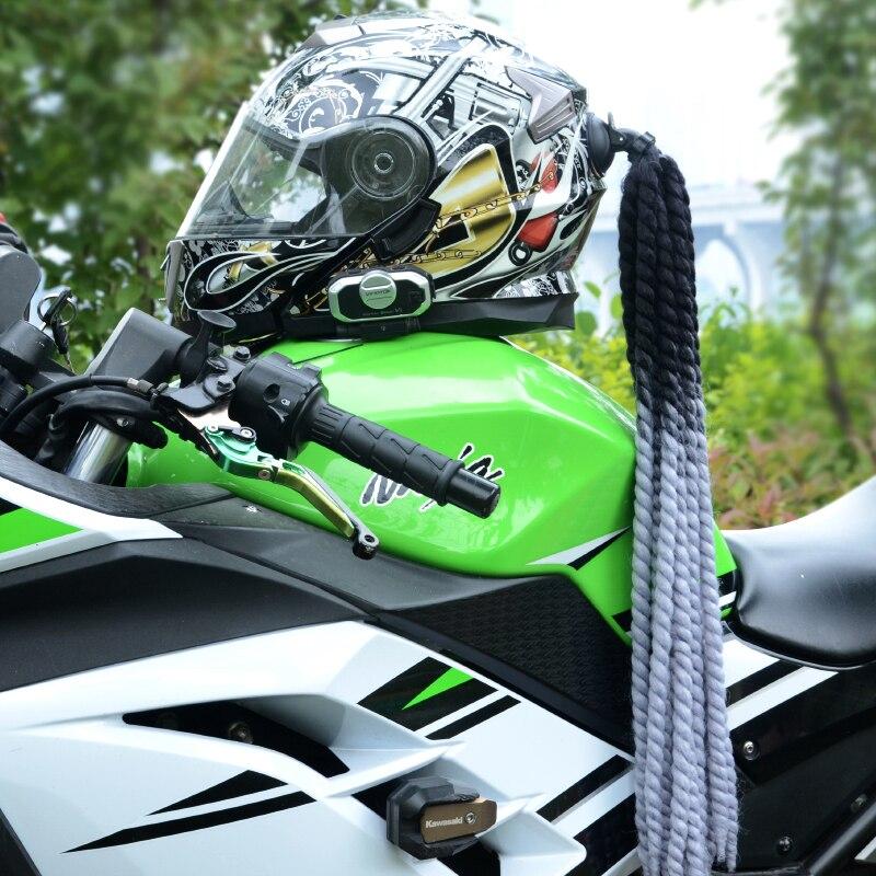 Quality FreeStyle Motorcycle Helmet handmade Dreadlocks Decoration Punk Dirty Braid Motocross Racing for All Riders Man Women enlarge