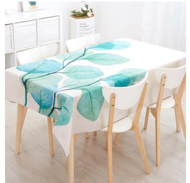 Mantel de hoja nórdica de estilo impermeable pastrol de algodón de lino mantel de mesa de tela decorativa de té