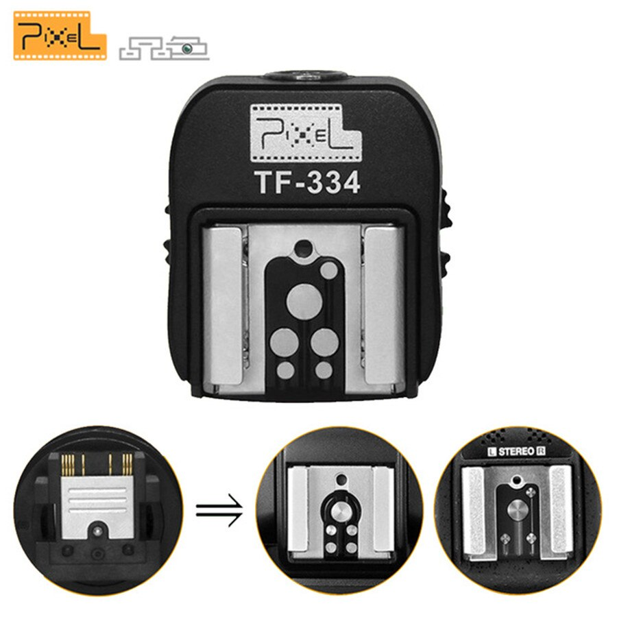 Adaptador de conversión TF-334 Mi Hot Shoes para cámara Sony A7 A7S A7SII A7R A7RII A7II para Canon Nikon Flash Yongnuo Speedlite