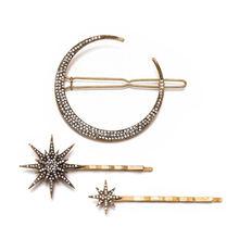 1 pièce/3 pièces étoile lune strass pince à cheveux épingle à cheveux femmes filles bijoux mode style accessoires