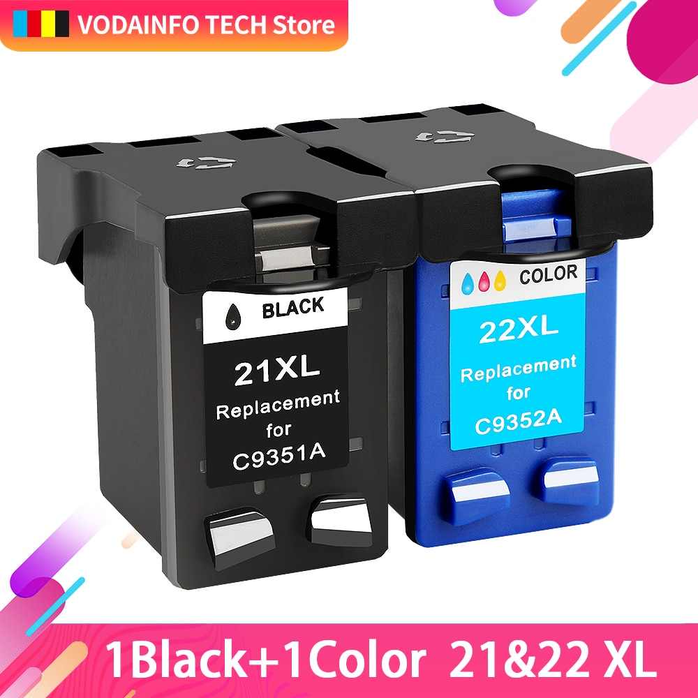 Royek Compatible 21 Black color Ink Cartridge Replacement for HP 21 22 HP21 for Deskjet F2280 F4180 F4100 F2100 F2200 F300