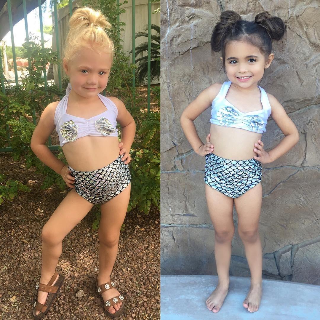 6M-7T princesse bébé filles petite sirène Bikini ensemble maillots de bain dessin animé rêve maillot de bain maillot de bain été brillant vêtements de plage