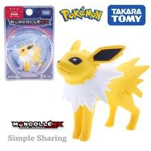 Takara Tomy tomica Pokemon go Figures Jolteon puppet Pocket Monster Moncolle EX60 diecast miniature fox Model hot kids toys