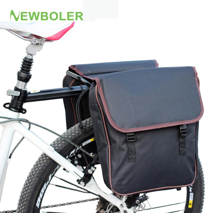 Сумка-переноска для велосипеда NEWBOLER MTB, задняя стойка, велосипедная Сумка на багажник, багаж Pannier, двусторонняя велосипедная сумка