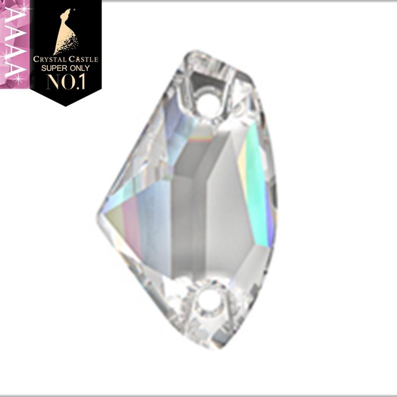 Cristal Castillo 4A cristal piedra para coser 3256 vestido de novia galáctico Rhinestone cristal blanco transparente AB cosido de Strass Rhinestones