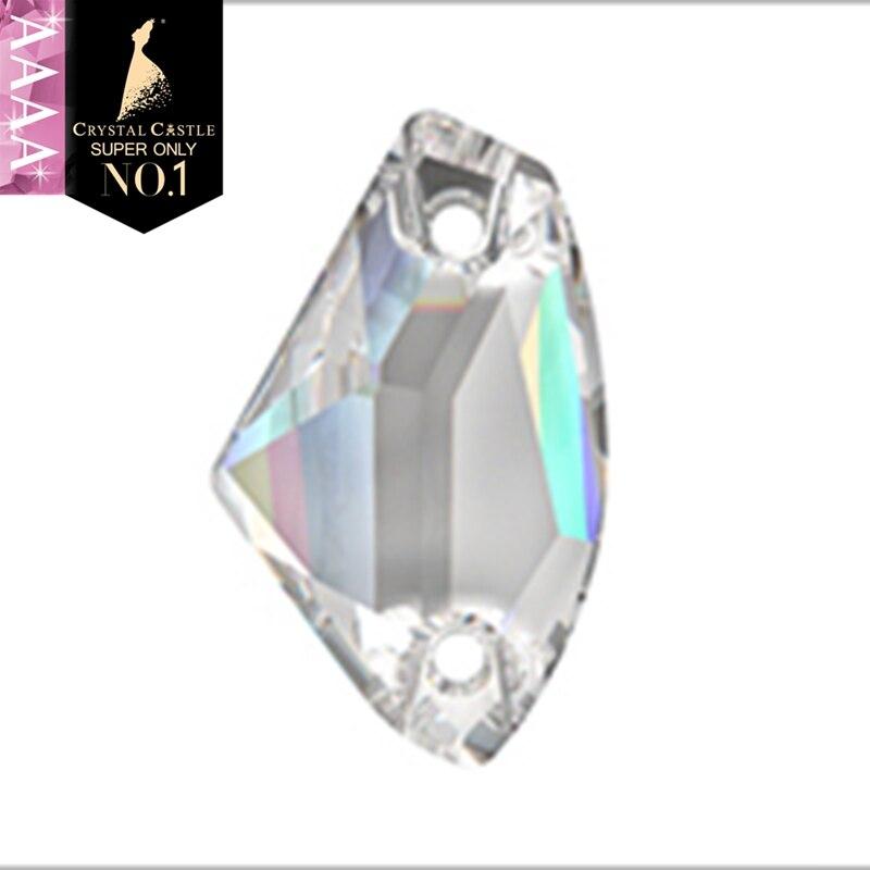 Cristal castelo 4a pedra de costura de vidro 3256 vestido de noiva galáctico strass branco claro cristal ab strass costurar em strass