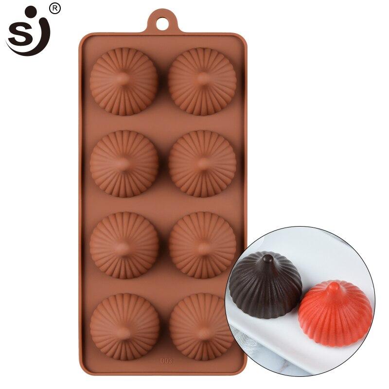 SJ 8 outils de pâtisserie à cavité   Moule en Silicone, cuisson de gâteaux antiadhésifs, brioche au chocolat 3D plateau de cuisson, outils de décoration de gâteaux